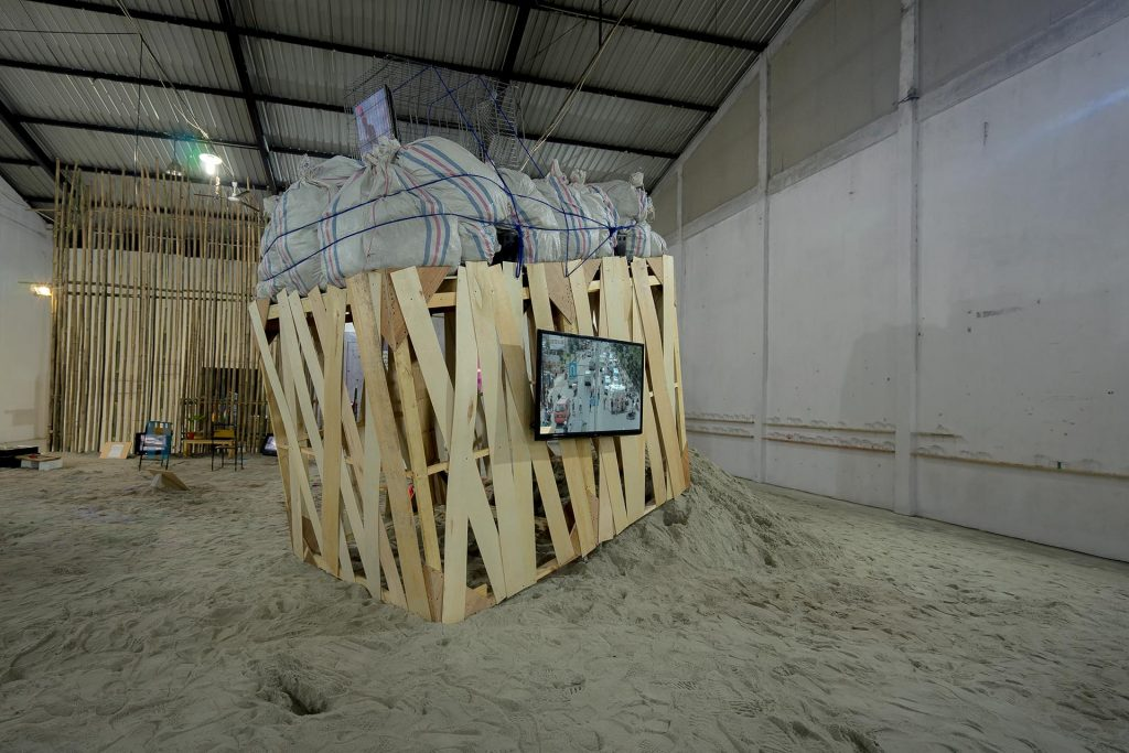 Installation view: Condition Report : Sindikat Campursari 2017 Venue: Gudang Sarinah Ekosistem, Jakarta, Indonesia
