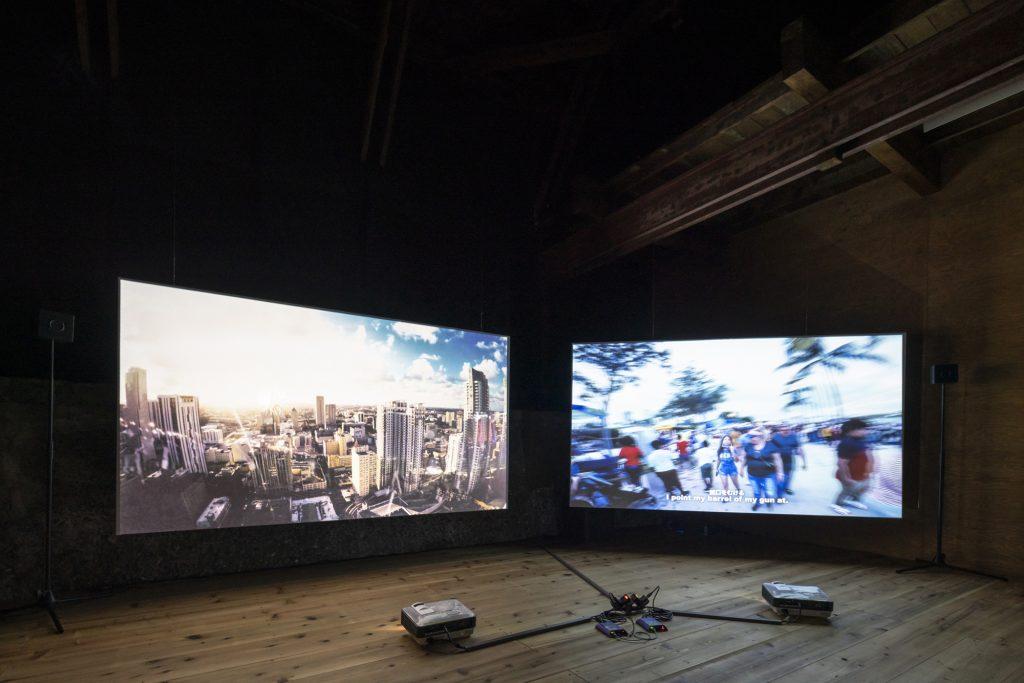 "Installation view of the exhibition ""Dreamscapegoatfuck"" at MUJIN-TO Production, photo: Kenji Morita"