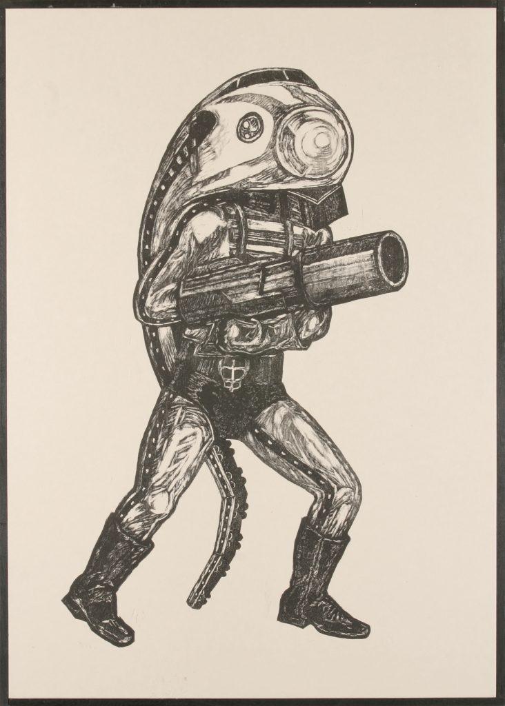 弾丸レッシャー、74.5 x 53.8 cm