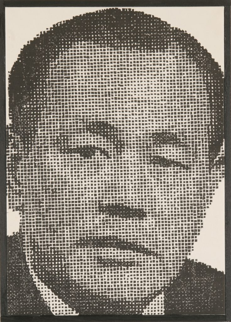角栄さん、44 x 31.5 cm